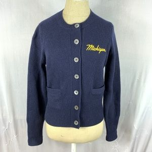 Wool cardigan sweater Collegiate U of Michigan Med